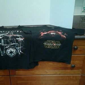 Two Star Wars Graphic Tee Shirts